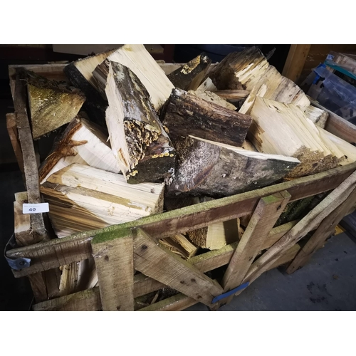 40 - 4' x 3' Crate full of seasoned split logs...