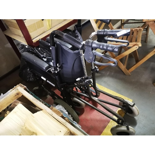 45 - Mobility walker plus folding wheelchair both in good order...
