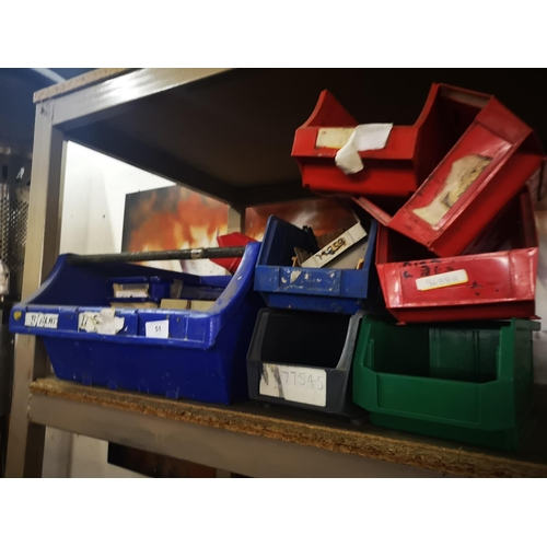51 - Job lot of approx 50 mixed tote bins...