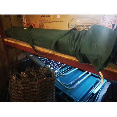 7A - 3 metre x 3 metre gazebo in green carry bag...