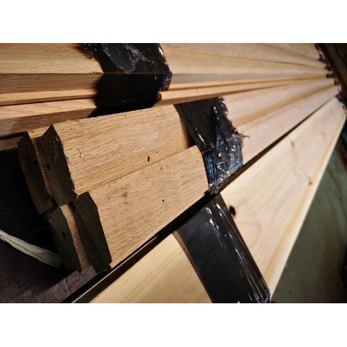 10 - Bundle of 2.1m oak architrave...