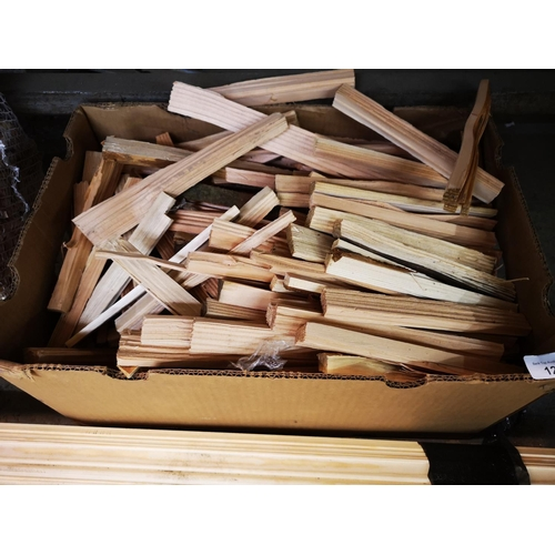 12 - Large box of fire kindling...