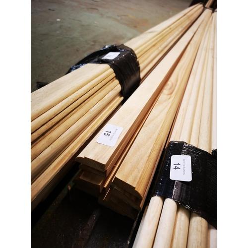 15 - Bundle of 2.1m pine edge mouldings...