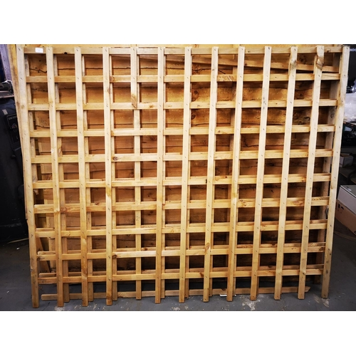 1A - Two 6 x 5 approx. trellis panels...
