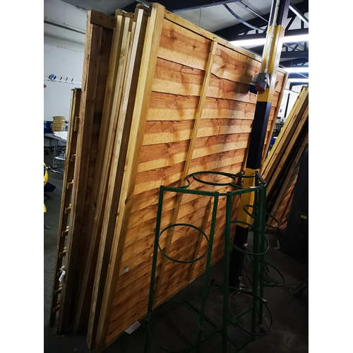 2 - Five 6 x 5 approx shiplap fence panels...