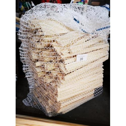 20 - Five kilo bag of fire kindling...