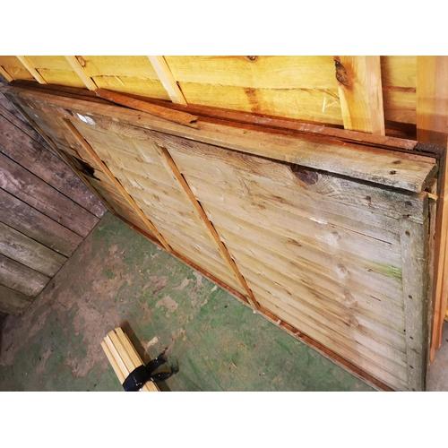 26 - Two 6 x 3 shiplap fence panels...