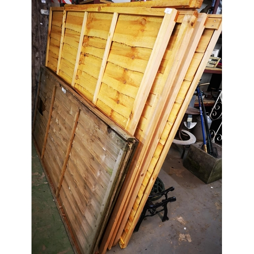 27 - Five  6 x 5 shiplap fence panels...