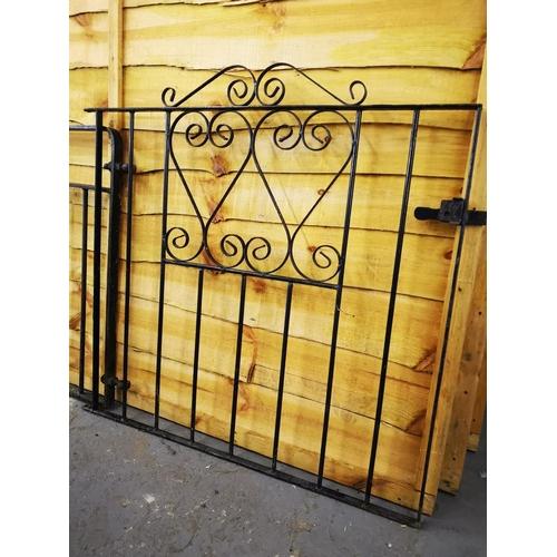 3 - Three foot x three foot approx wrought iron garden gate...