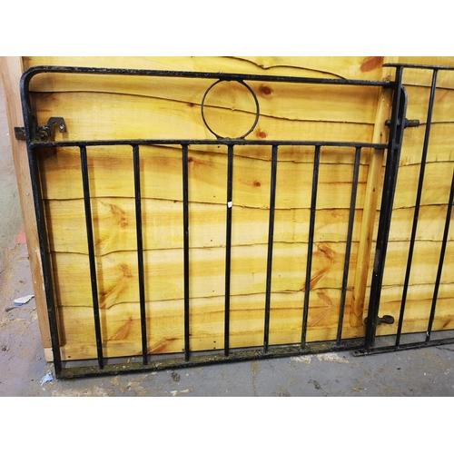 3A - Three foot x three foot wrought iron garden gate...
