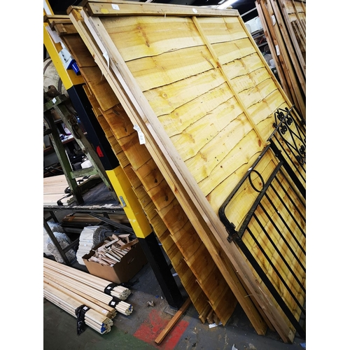 4 - Five 6 x 5 approx. shiplap fence panels...