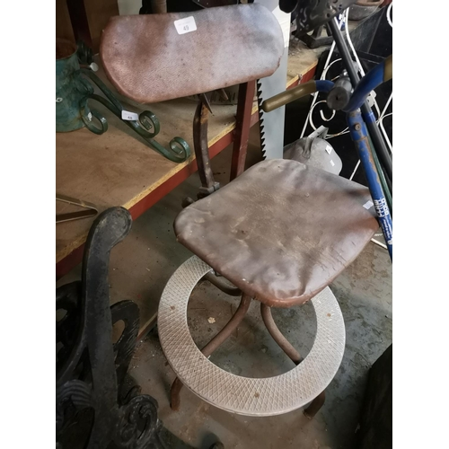 49 - 1950/60's factory worker swivel chair...