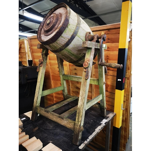 5 - Antique imperial barrel butter churn...