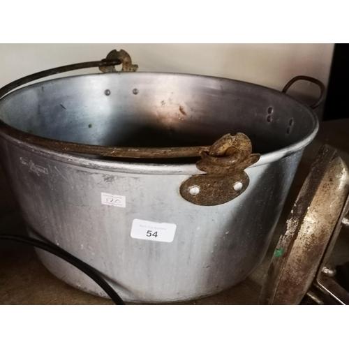 54 - Large aluminium jam pan...