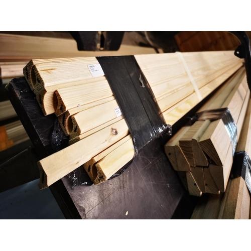 6 - Bundle of pine 2.1m scotia moulding...