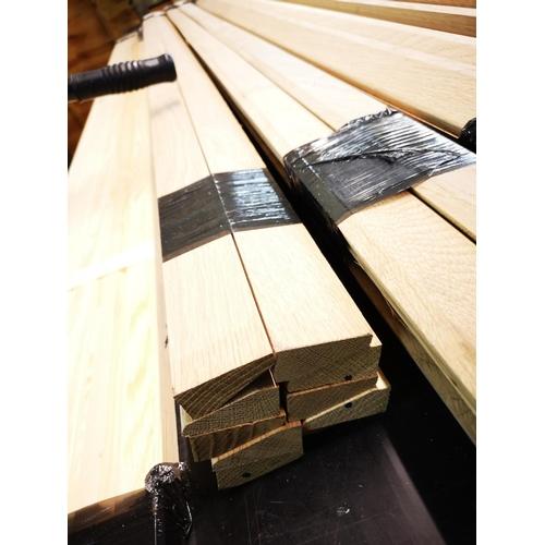 7 - Bundle of 2.1m oak architrave...