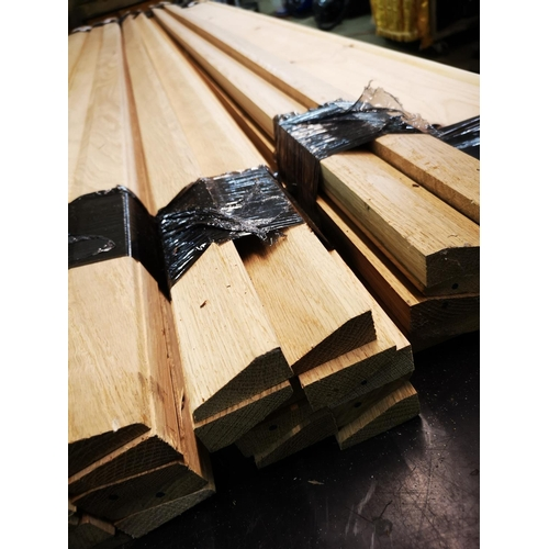 9 - Bundle of 2.1m oak architrave...