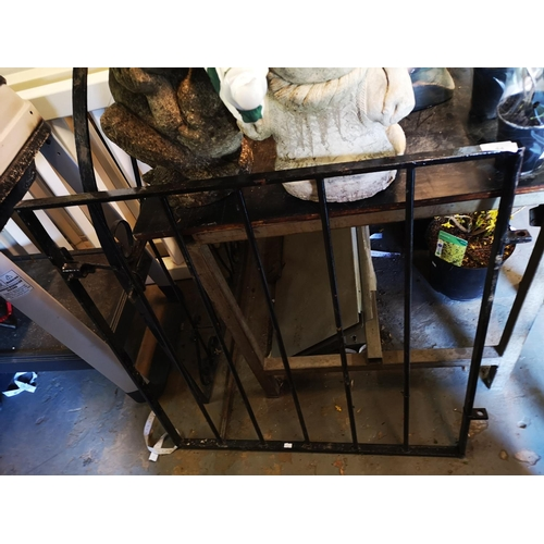 44 - Wrought iron garden gate approx 4' square...