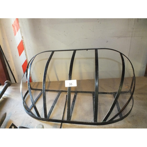 35 - Metal wall plant rack approx. 2' long...