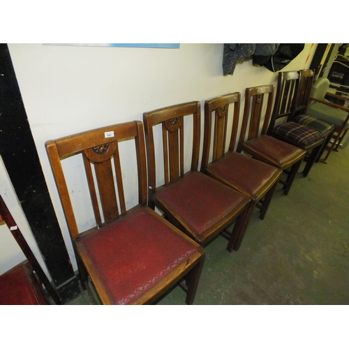 543 - Four 1940/50's dining chairs...