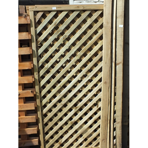 6 - Three 6 x 3 lattice fence panels...