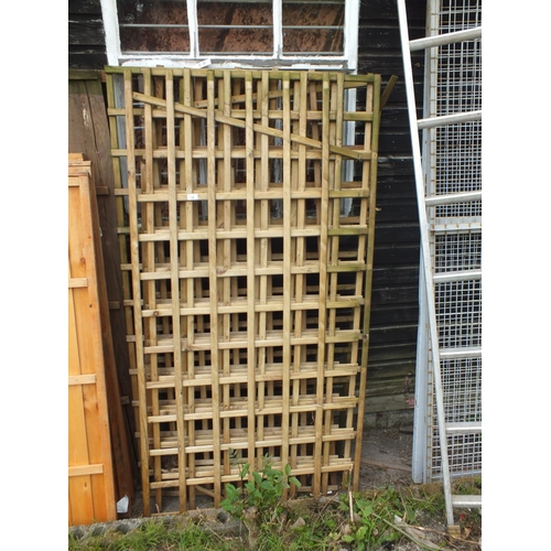 12 - Five 6 x 3 trellis panels...