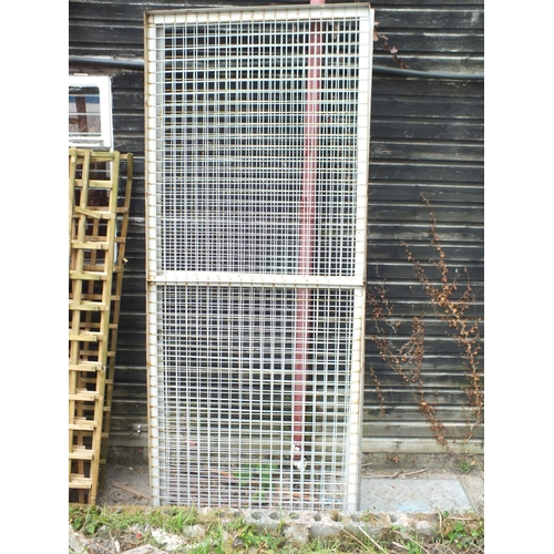 13 - Three 8 x 3 weld mesh cage panels...