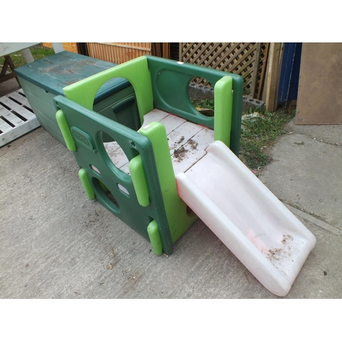 8 - Toddler play pen and  slide...