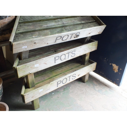 23E - Wood pot bed (1 only)...