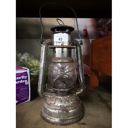 43 - Vintage paraffin storm lantern...