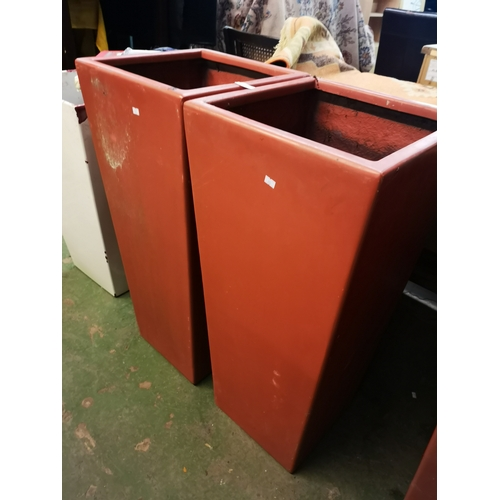 6E - Pair Of 3FT Red Planters...