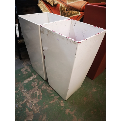 6F - 30inch Pair Of White Planters...