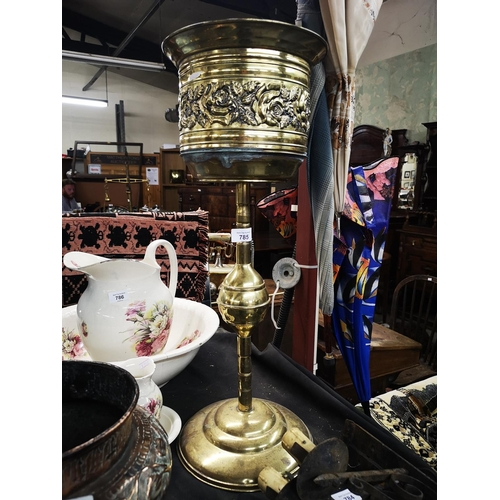 785 - Tall brass plant stand 25 inches in height...