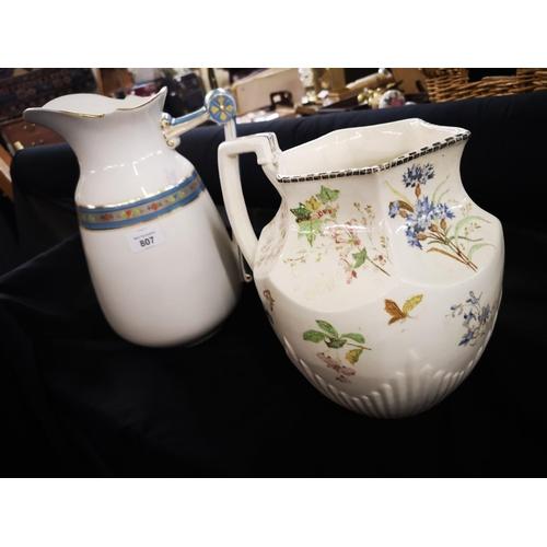 807 - 2 x China water jugs...