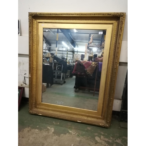 831 - Large guilt framed mirror 50 inches by 40 inches...