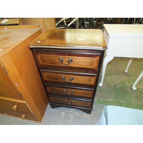 356 - Four drawer mahogany chest of drawers...