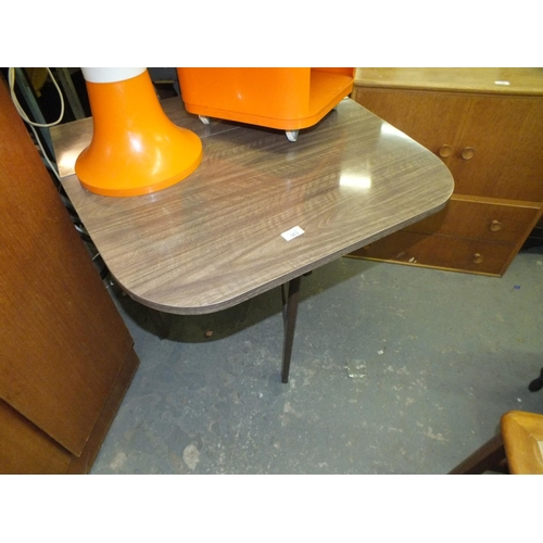 363 - !970's drop leaf formica dining table...