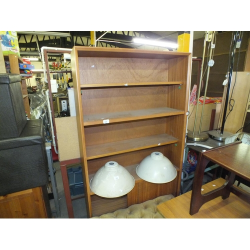 369 - Light oak effect bookcase shelf unit - would make good firewood project...