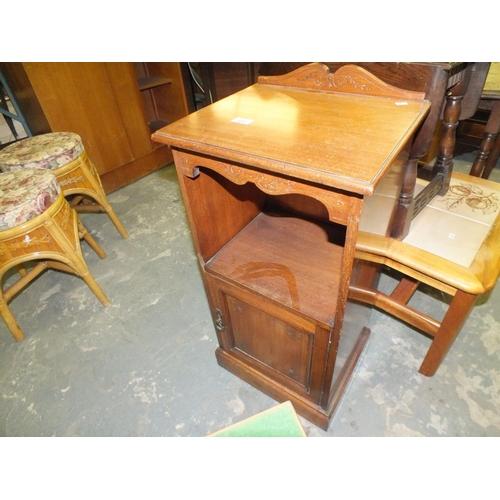 372 - Edwardian bedside pot cabinet...