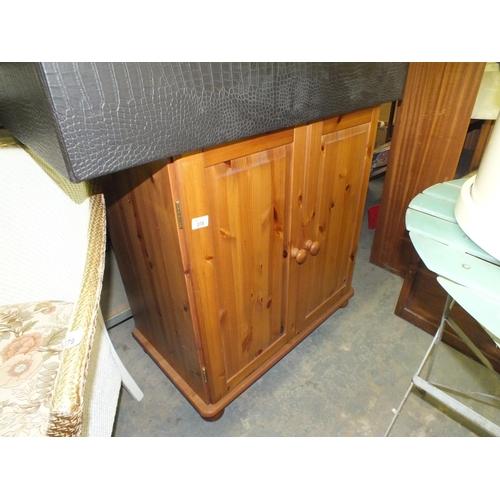 378 - Pine two door cupboard...
