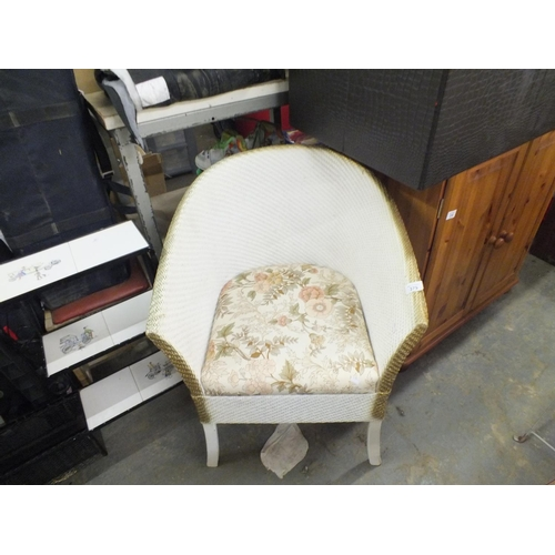 379 - Lloyd loom style commode tub chair....