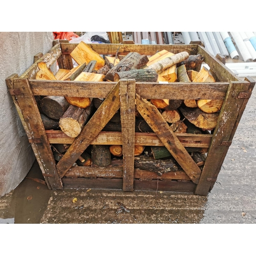 1 - Crate of logs...