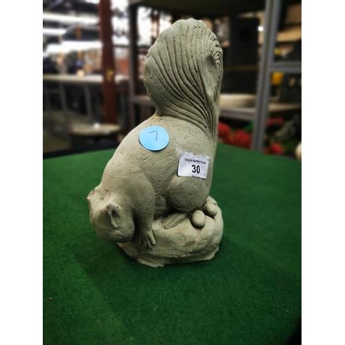 30 - Concrete garden ornament squirrel...