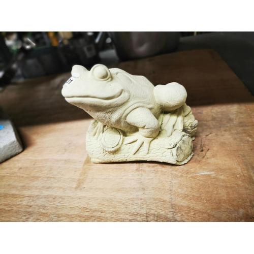 31 - Concrete garden ornament sitting frog...