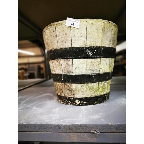 44 - Small half barrel planter...