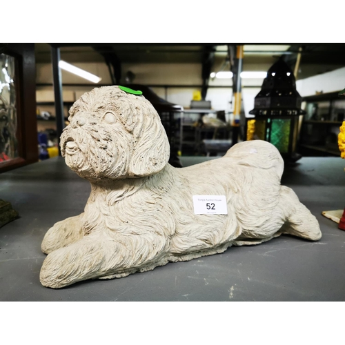 52 - Concrete Shih Tzu dog Lying Down...