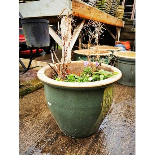 7 - Large ceramic plant pot...