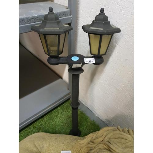 33a - Twin lantern solar powered garden light...