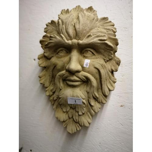 1 - Leaf green man plaque...