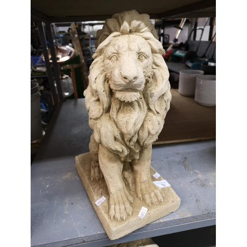 13 - Medium sitting lion...